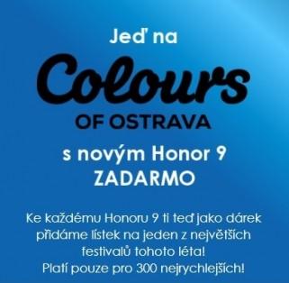 více o novince zde - Jeď na Colours of Ostrava s novým HONOR 9 ZADARMO - Zapař letos s Honorem na Colours of Ostrava jako král!...