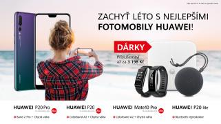 více o novince zde - ZACHYŤTE LÉTO S NEJLEPŠÍMI FOTOMOBILY HUAWEI! - Nádherné dárky k mobilním telefonů Huawei P20 Family získáte na...